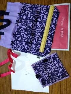 VIOLA per Donna 紫花布袋