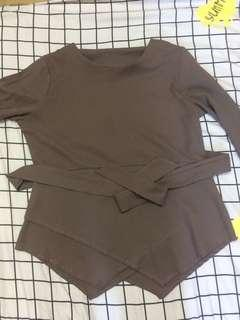 PL Blouse in brown #MHB75