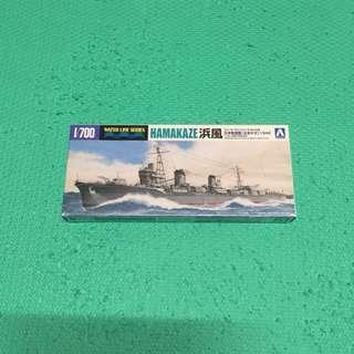 HAMAKAZE 浜風 日本驅逐艦 1942 No.446 組裝模型
