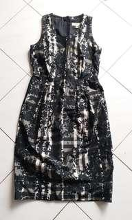 Burberry charcoal floral dress
