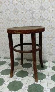 50s/60s Vintage Wooden Stool from Poland