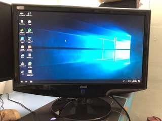 """AOC 18.5"""" used monitor"""