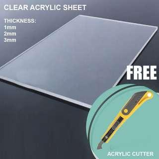 Clear Acrylic Sheet and Cutter