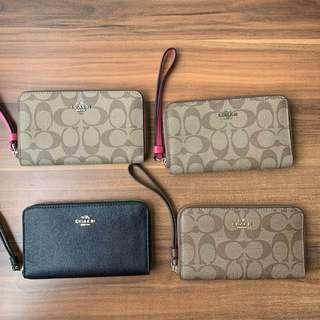 [BNIP] Authentic Coach Crossgrain Leather Phone Wallet F57468 F58053