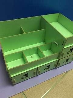 🚚 木質收納盒(綠色)