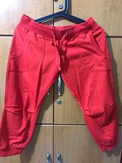 🚚 Cotton On Red 3/4 Jogger Pants