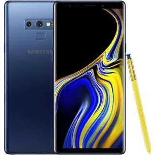 Samsung Note 9 in blue