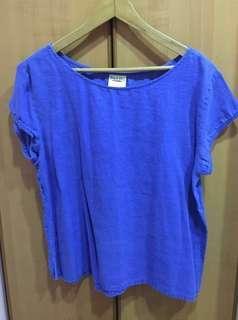 Island Shop Women's Sky Blue Linen Tops