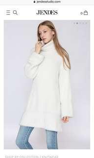 Jendes 白色針織上衣
