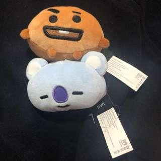 BTS van soft toy keychain
