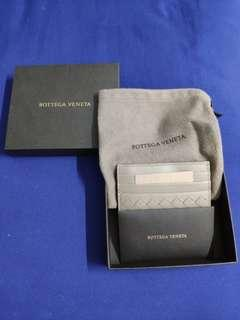 Bottega Veneta Unisex Card Holder in Limestone