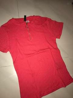 H&M red top