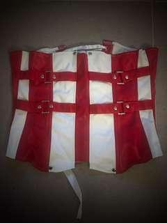 紅白色膠腰封
