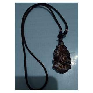 特價結緣優惠--藏傳天眼雙面雕天珠項鍊