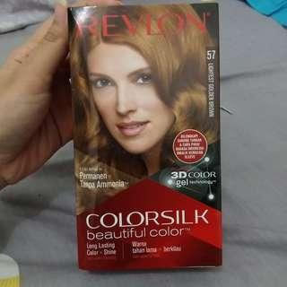Cat rambut revlon warna golden brown