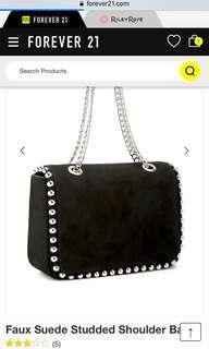 DICARI Faux Suede Studded Shoulder Bag Forever 21