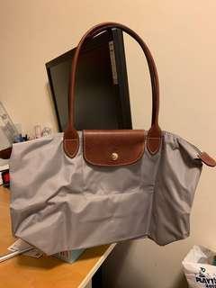 Longchamp Bag 灰色長柄款 40cm x 25cm