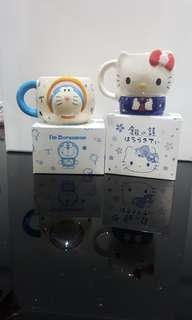 🚚 Hello kitty n Doreamon Cup from Hokkaido