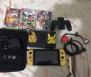 🚚 Nintendo switch(eevee and pikachu edition)