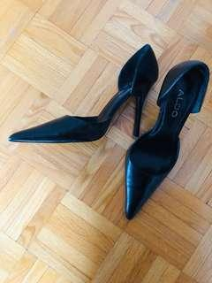 Aldo black stilleto heels size 38