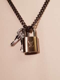 LV padlock for necklace as pendant