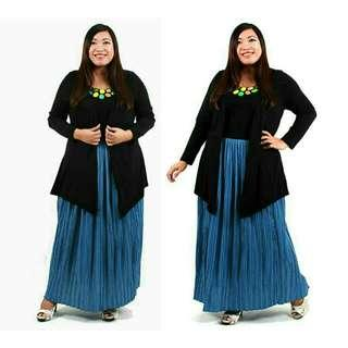 PLUS SIZE STRETCHABLE PRISKET SKIRT - last pc clearance