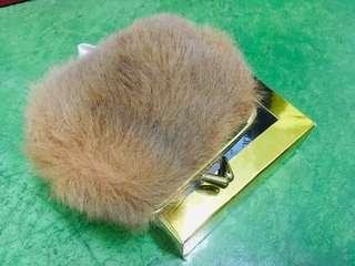 Genuine kangaroo fur purse