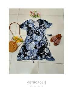 Brand New Plus Size Ruffle Wrap Around Dress