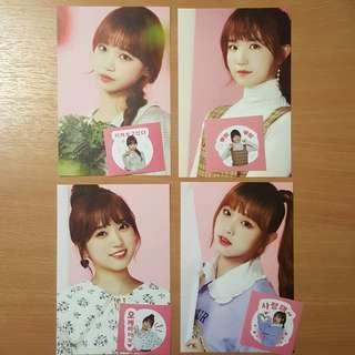 WTS IZ*ONE Gmarket Postcard + Sticker