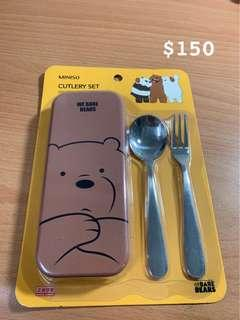 熊熊遇見你餐具組