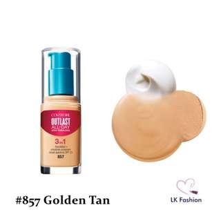 💕 Instock 💕 Covergirl Outlast Stay Fabulous 3-IN-1 Foundation 💋 #857 Golden Tan 💋