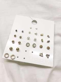 Forever 21 Set of 13 Stud Earrings