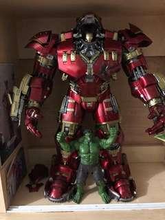 99.99%新原裝正版美國Hottoys 1:6 Ironman Hulkbuster 無盒,見圖實物