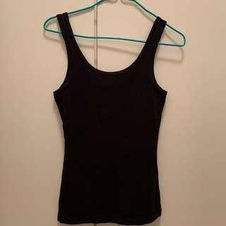H&M黑色背心 black tank top/vest