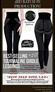 Black girdle long legging tourmaline
