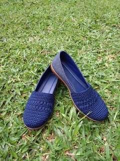 HANDMADE Sepatu Rajut mix Canvas
