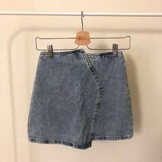 🚚 不規則造型牛仔短裙