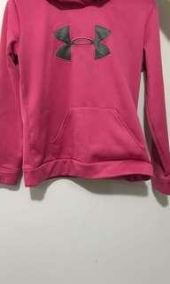 Pink under armour hoodie / sweater