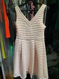 🚚 Forever New Feminine Skater Dress Pastel Pink