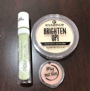 Bundle Essence Brightens Up ! Banana compact powder , liquid concealer and eyeshadow