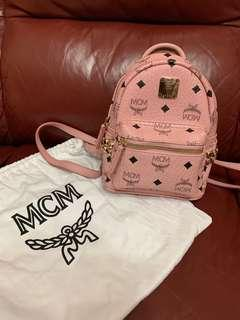 MCM Backpack mini size in pink colour