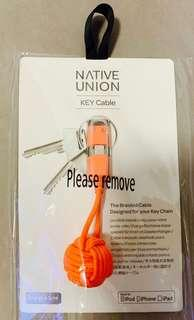 USB to Lightning cable/ iPhone 充電線/ native union key cable