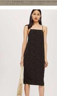 🚚 Topshop utility poppy square neck slip dress