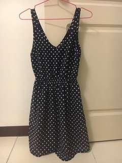 🚚 H&M香港購入 藍色白點點洋裝