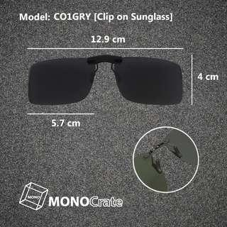 Polarized Clip-on Sunglass (Non-flip up version)