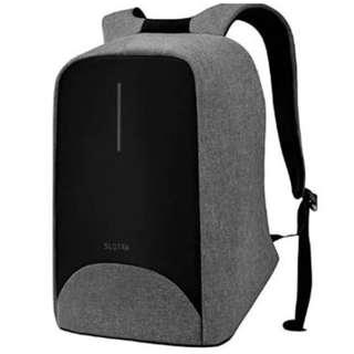 """SLOTRA 15.6"""" Anti-Theft Laptop Backpack,Travel Laptop Rucksack with USB Charging Port,Business Backpack for Men Women Work College,Water Resistant Business Travel School Bag Check Point Friendly(Grey) (YA144)"""