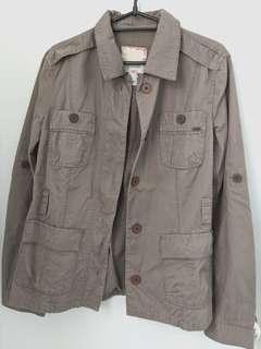 Dark Khaki Mango Jacket with belt