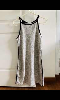 🚚 BASIC HALTER GREY DRESS