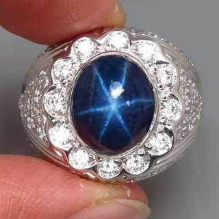 Natural Star Sapphire Diff Size 10. Men Ring. PM for details.