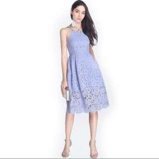 Fayth Periwinkle Hayley Midi Dress